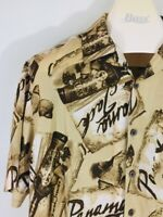 Vintage Panama Jack Men's Size Large Hawaiian S/S Tropical Casual Shirt