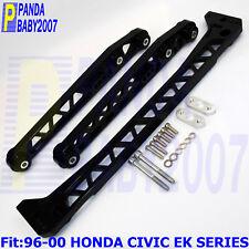 For 96-00 CIVIC EK LCA BILLET REAR LOWER CONTROL ARM SUBFRAME BRACE Kit BK F7