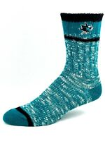 San Jose Sharks Hockey Green and Black Alpine Knit Crew Socks