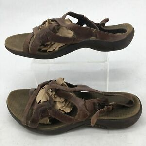 Merrell Agave Slingback Strappy Sandals Womens 8 Casual Leather Brown J36612