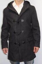 INC International Concepts Coat Sz M Charcoal Grey Wool Hooded Toggle Jacket