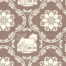Half Metre Quilting Fabric ~ Riley Blake Daisy Cottage Collection ~ Damask Grey