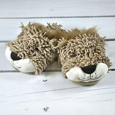 Shaggy Shoo Unisex Adult Cute Fuzzy Lion 3D Novelty Slippers Free Size UK 3-8