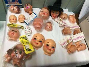 Vintage Plastic Doll Faces, Heads, Hands - Westrim Crafts, Cupid's Cuties, etc