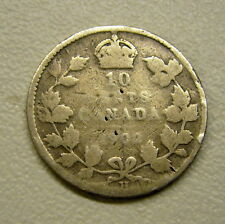 1902 H Canada 10 Cent Coin