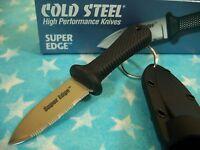 "COLD STEEL ""Japan"" SUPER EDGE Neck Knife w/ sheath AUS-8 covert compact CS 42SS"