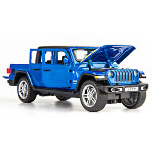 1:32 Jeep Gladiator Pickup Truck Model Diecast Toy Vehicle Pull Back Car Blue