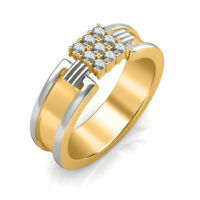 1.08CT NATURAL DIAMOND 14K YELLOW GOLD WEDDING ANNIVERSARY RING FOR MEN