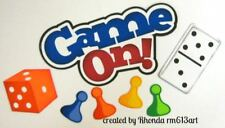 Game On play title paper piecing for Premade Scrapbook Pages die cut by Rhonda