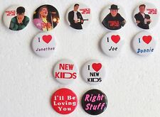 New Kids On The Block~ Lot of 12 Collectible Memorabilia  Button / Pins ~ Metal