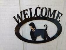 Afghan Hound Handcrafted Metal Welcome Sign black silhouette Made in the Usa