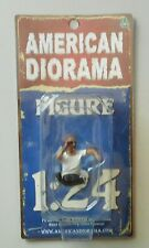 "GEORGE HANGING OUT AMERICAN DIORAMA 1:24 Scale Figurine 1.5"" Male Man Figure"