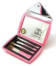 Danielle Pink 3x Magnification Envelope Compact Mirror & Make Up Brush Set