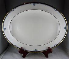 "Royal Doulton China Princeton Large 13"" Oval Platter H5098 - Blue, Black & Gold"