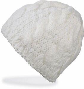 Dakine VINE Womens 100% Acrylic Chunky Cable Knit Beanie White NEW Sample