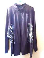 NWT - Avenue - 30 / 32 - Zip Jacket / Top - Blue / White Print