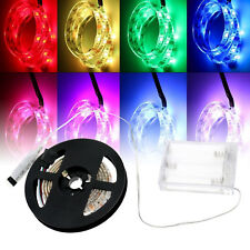1 Meter Strip Lights Bright RGB 5v LED Flexible Lamps Controller Battery Powered