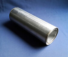 """76mm bore (3"""") 4"""" Round x 10"""" Long Universal Stainless steel exhaust silencer"""