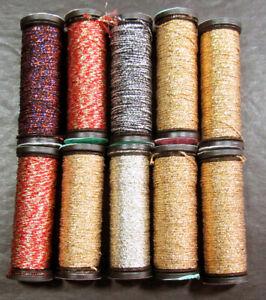 10x Needlepoint/Embroidery THREAD KREINIK 8 Braid metallic-XW23