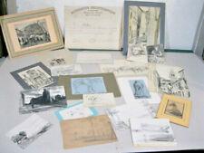 Lot fond d'atelier Edouard-Jacques Dufeu  20 dessins + certificat Philotechnique
