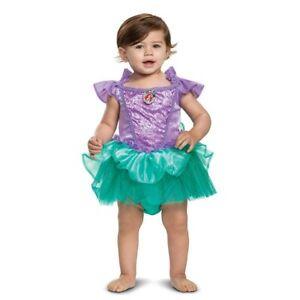 Disney Princess Ariel Baby Toddler Halloween Costume Dress 12-18M