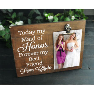 Personalized Photo Frame Wood Frame Clip Picture Frame For Her Best Friend Gift