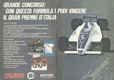 X0558 Parmalat - Modellino Yaxon F1 - Pubblicità del 1980 - Vintage advertising