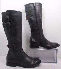 "Born ""Attila"" Tall Gray Leather Knee High Fashion Boots EUC Sz 5M"