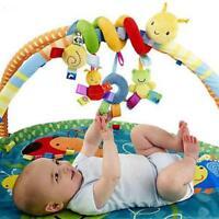 Newborn Baby Animals Plush Spiral Rattle Infant Bed Stroller Crib Hanging Toy LR