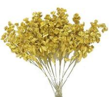"MaxEcor 18"" Gold Stem Baby Breath Full Bloom Filler Artificial 12 Silk Flowers"
