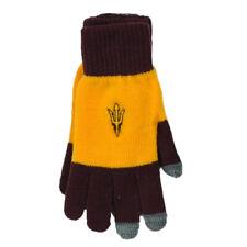 NCAA Adidas Arizona State Sun Devils L265W 2Tone Gloves Yellow Burgundy One Size