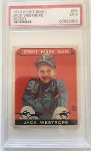 1933 Sport Kings    Jack Westrope Jockey #39 PSA EX 5