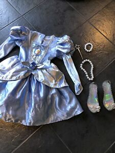 Disney Princess Cinderella Fancy Dress Up Costume & Accessories Age 5-6 Years