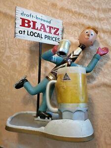 1950s BLATZ Bottle Man Ice Skater Statue Figure