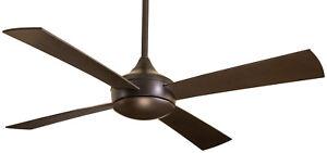 "MinkaAire F523-ORB 4 Blade 52"" Indoor / Outdoor Ceiling Fan Oil Rubbed Bronze"