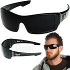 LOCS Rectangular Gangster Black Shades Mens Designer Sunglasses Cholo Dark Lens