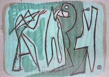 LOUIS SCHANKER-WPA NY/CT Modernist-Hand Signed LIM.ED Color WB-Abstract Figures