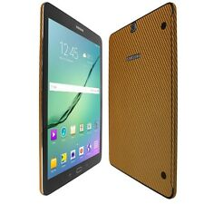 Skinomi Gold Carbon Fiber Skin+Screen Protector For Samsung Galaxy Tab S2 9.7
