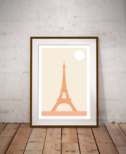 Paris - The Eiffel Tower Minimalist Art Print, French Capital, World Travel