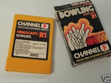 Fairchild Video Game System Cartridge Videocart 21 Bowling with Box