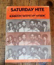 Saturday Nite - Earth, Wind & Fire Vintage Sheet Music 1976