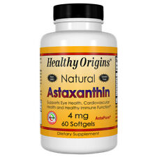 Astaxantina, 4mg x 60 Softgel, Tendiniti, Fegato Macchie - Healthy Origins
