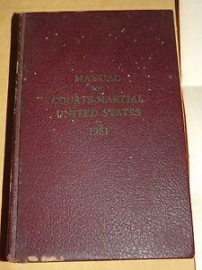 1951 KOREAN WAR COURTS-MARTIAL UNITED STATES MANUAL BOOK of DONALD PUTTERMAN