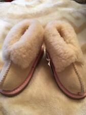 Little Girls Baby Baa Baas Sheepskin Boots Pale Pink New Size 9/10