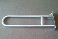 Hinged Arm Support Grab Rail Satin Stainless Steel
