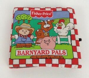 Fisher Price Soft Play Barnyard Pals Plush Stuffed Vintage 1998 Baby Book