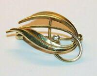 Damenbrosche 1,78g 333er Gold, mit Brillant, 2 Punzen, Zust. II