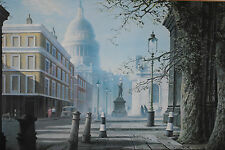 VINTAGE 1960s PRINT ~ FELIX KELLY ~ ST PAUL'S FROM THE CITY, RARE & OUT OF PRINT
