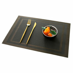1pcs Rectangle Non-Slips PVC Placemats Table Coasters Washable Dining Table Pads