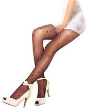 New Womens Diamond Love Mesh Socks Leggings